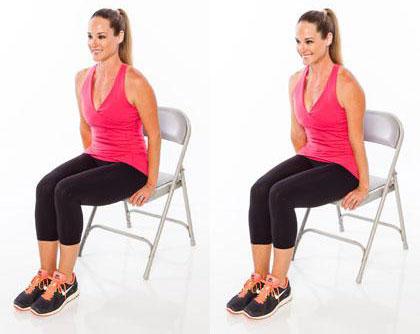 6 động tác thể dục tại nhà với chiếc ghế ngồi